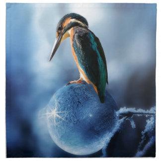 Serviettes De Table Oiseau de ronflement sur le tir congelé de macro