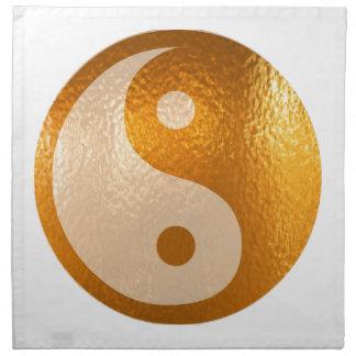 Serviettes De Table Or de YinYANG - équilibre de Yin Yang