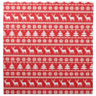 Serviettes De Table Ornement folklorique nordique de chandail de Noël