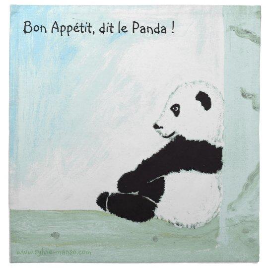 Serviettes De Table panda