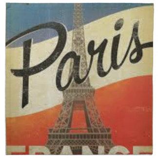 Serviettes De Table Paris France Vintage
