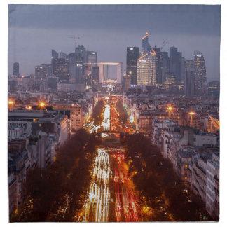 Serviettes De Table Paris, La défense