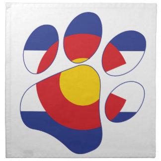 Serviettes De Table Patte d'animal familier du Colorado