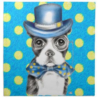 Serviettes De Table Point de polka de Boston Terrier