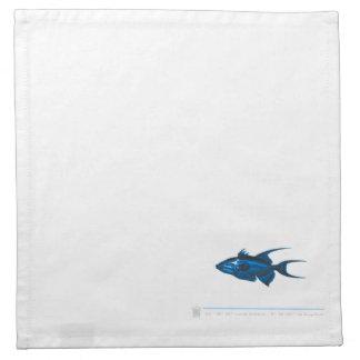 Serviettes de table poisson MAR2N
