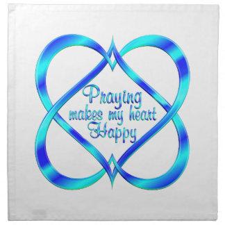 Serviettes De Table Prière liant des coeurs