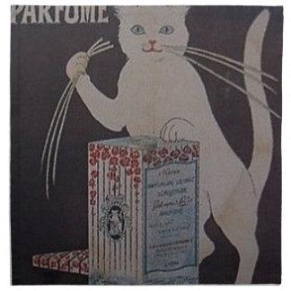 Serviettes De Table Publicité française vintage - chats