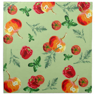 Serviettes De Table Rétros légumes vintages