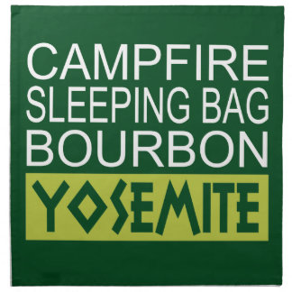 Serviettes De Table Sac de couchage de feu de camp Bourbon Yosemite