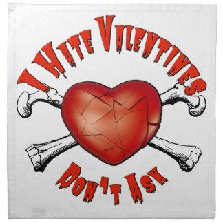 Serviettes De Table Saint-Valentin de haine des Anti-Valentines I ; Ne
