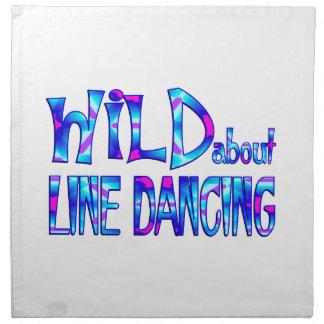 Serviettes De Table Sauvage au sujet de la ligne danse