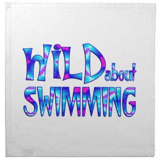 Serviettes De Table Sauvage au sujet de la natation