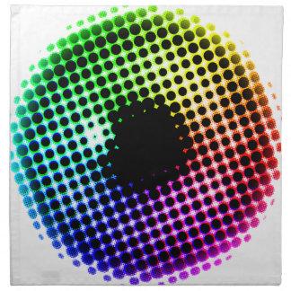 Serviettes De Table Spectre de couleur d'oeil de licorne d'iris