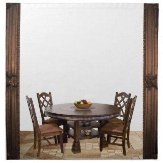 Serviettes De Table Tableau avec des chaises dans une conception de