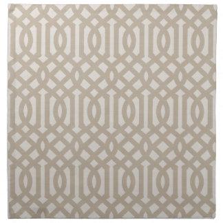 Serviettes De Table Treillis de toile beige de ferme