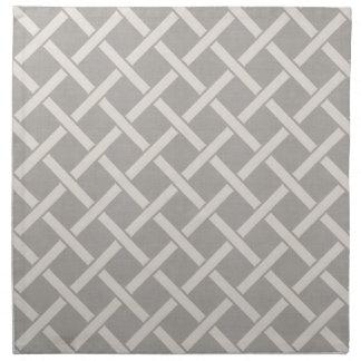 Serviettes De Table Trellis de toile gris de ferme