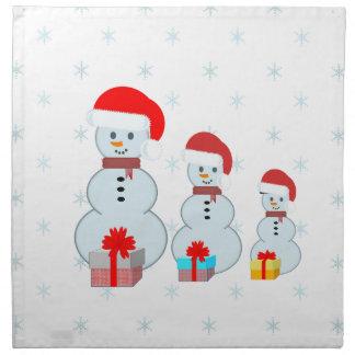 Serviettes De Table Trois bonhommes de neige
