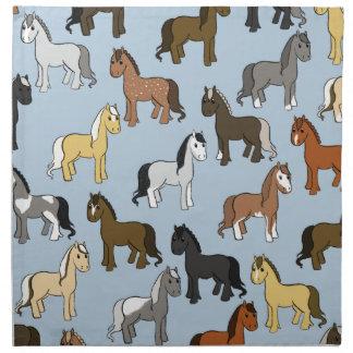 Serviettes De Table Troupeau mignon de chevaux