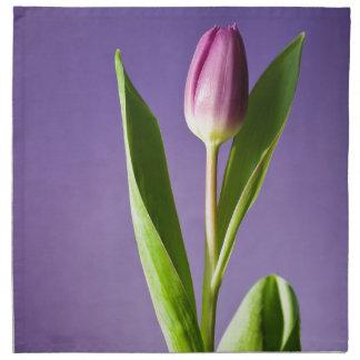 Serviettes De Table Tulipe pourpre la Saint-Valentin lumineuse