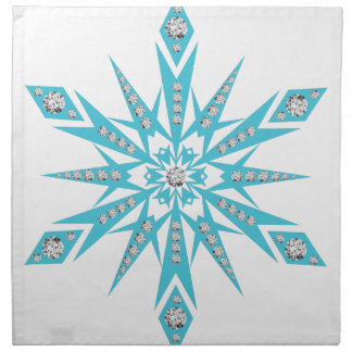 Serviettes De Table vacances légères bleues de flocon de neige