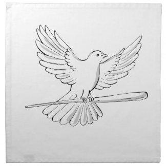 Serviettes De Table Vol de pigeon ou de colombe avec le dessin de