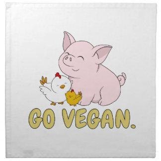 Serviettes De Table Vont le végétalien - porc et poulet mignons
