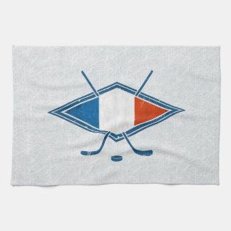 Serviettes de thé françaises de logo de drapeau de