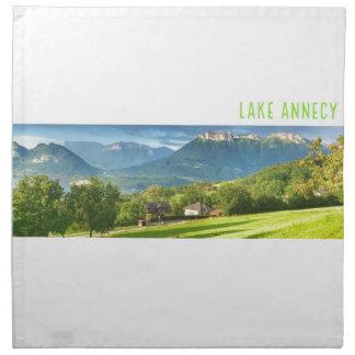 Serviettes de tissu d'Annecy de lac