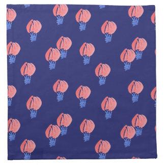 Serviettes de tissu de cocktail de ballons à air