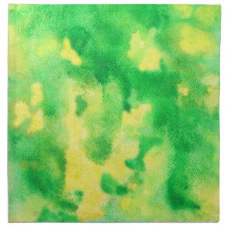 Serviettes de tissu de dîner d'aquarelle de vert