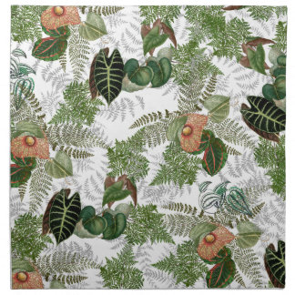 Serviettes de tissu de fleurs de feuille de