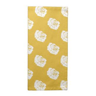Serviettes de tissu d'impression de moutarde et de