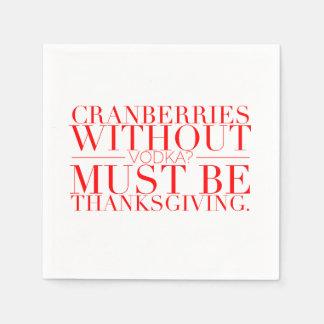 Serviettes drôles de thanksgiving serviette jetable