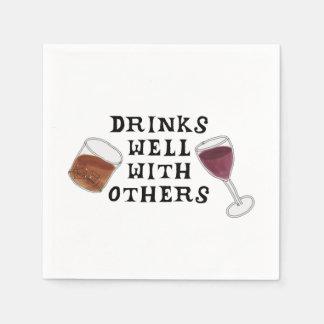Serviettes drôles vin et humour d'alcool de serviettes jetables