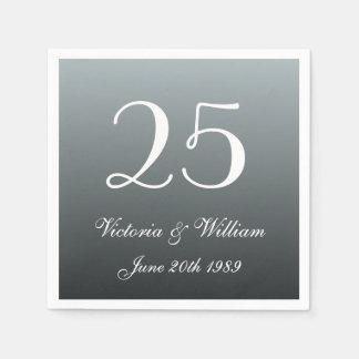 Serviettes En Papier 25èmes serviettes de fête d'anniversaire de