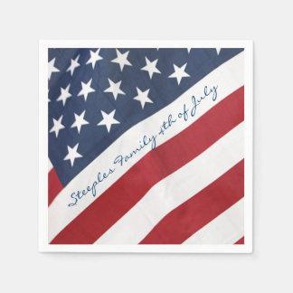 Serviettes En Papier 4 juillet serviette personnalisée de drapeau