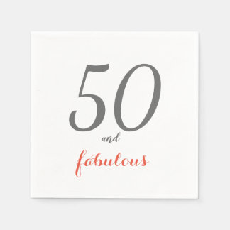 Serviettes En Papier 50 et serviettes de papier fabuleuses de fête