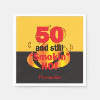 Serviettes En Papier 50 et toujours anniversaire chaud de Smokin |