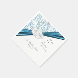 Serviettes En Papier 5ème Anniversaire de mariage bleu