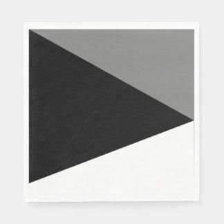 Serviettes en papier Abstrait Trio Gris