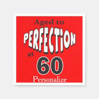 Serviettes En Papier Âgé à la perfection au soixantième anniversaire de