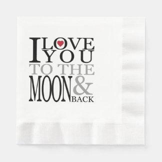 Serviettes En Papier Aimez-vous à la lune