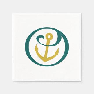 Serviettes En Papier Alpha marque d'ancre de Tau de sigma