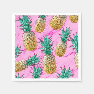Serviettes En Papier Ananas tropicaux d'amusement et partie chic de