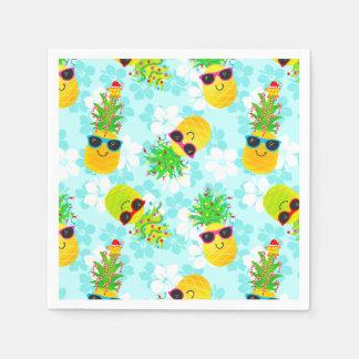 Serviettes En Papier Ananas tropicaux drôles de Noël