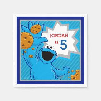 Serviettes En Papier Anniversaire de monstre de biscuit