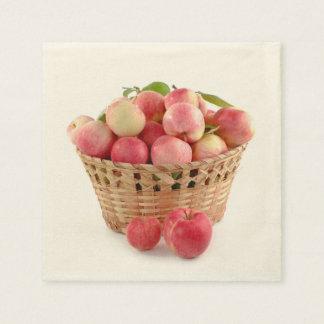 Serviettes En Papier Apple moissonnent, des pommes dans le panier,