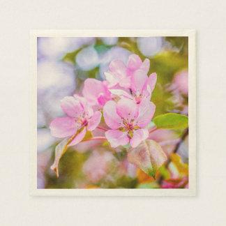 Serviettes En Papier Apple rose fleurissent