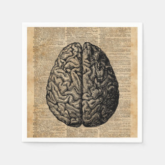 Serviettes En Papier Art vintage de dictionnaire d'illustration