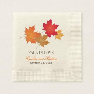 Serviettes En Papier Automne des serviettes | de monogramme de mariage